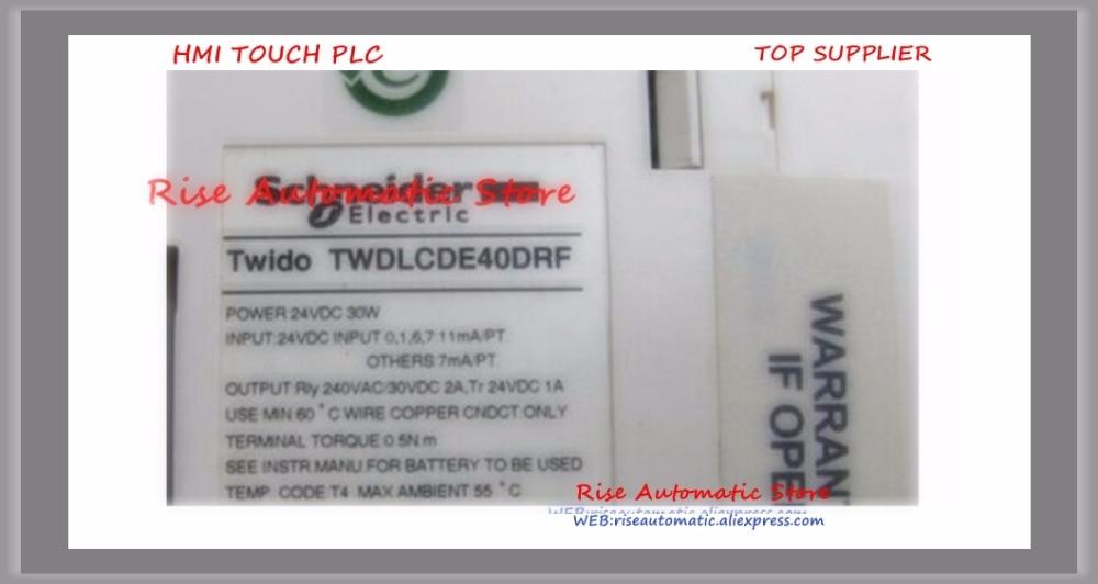 New original TWDLCAE40DRF PLC CPU 100 240VAC 24DI 16DO 40 point Built in Ethernet