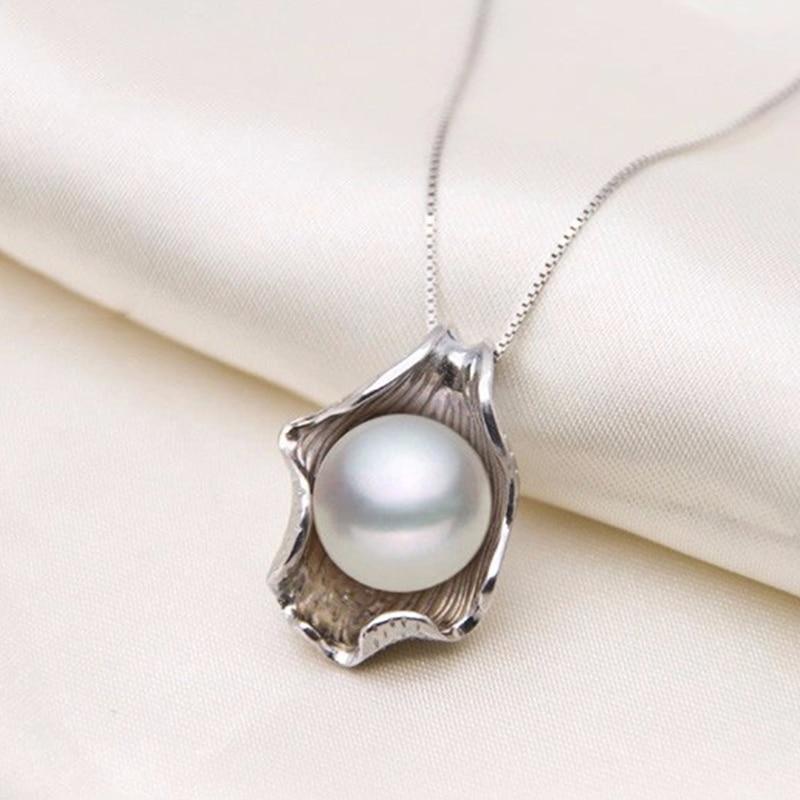 YIKALAISI 925 Sterling Gümüşü Zəncirli Təbii Duzlu İnci Dəniz - Moda zərgərlik - Fotoqrafiya 3
