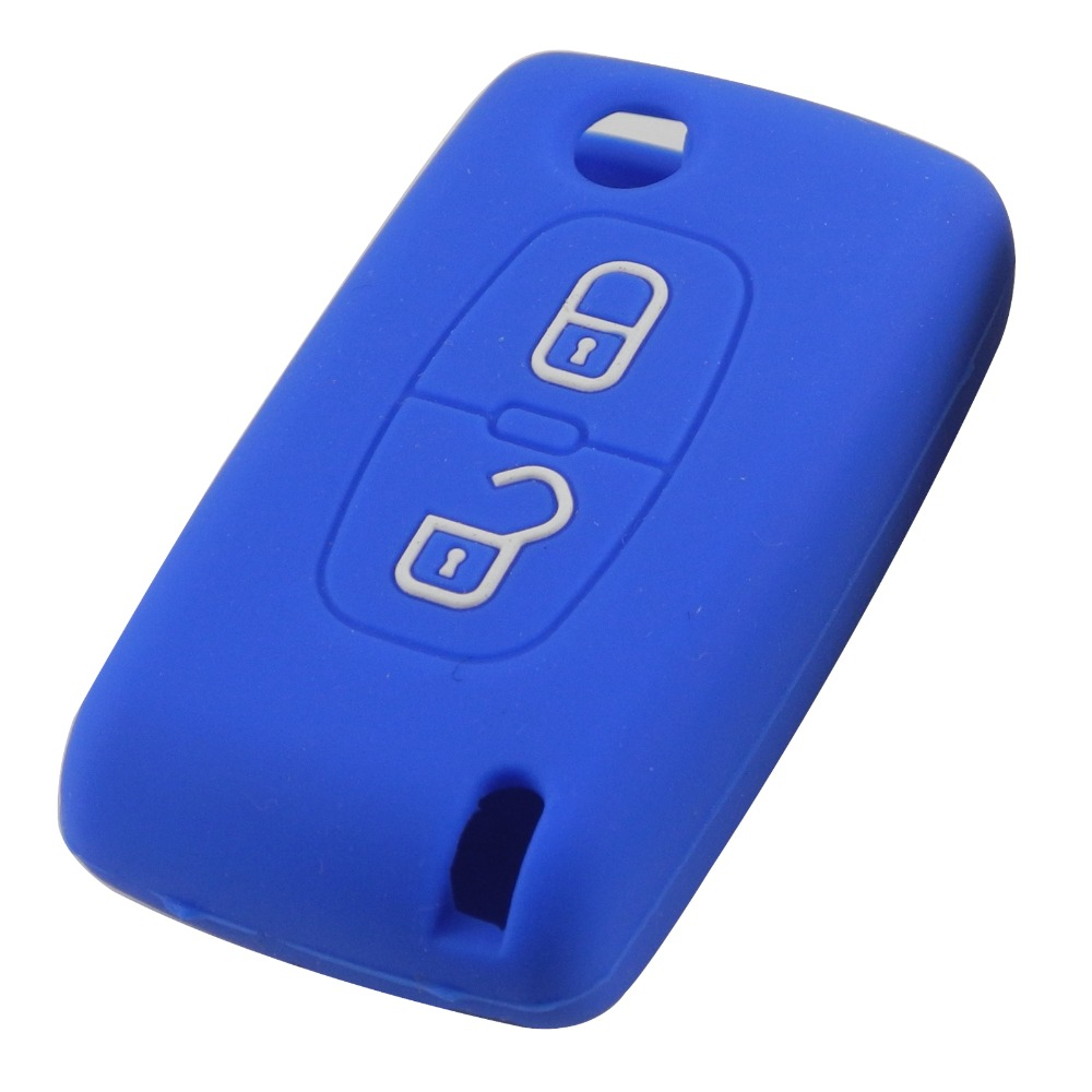 Remote 2 Buttons Silicone Case Folding Key Case Cover For Citroen C3 C4 C4L C5 C6 Protector remote keyless in Car Key from Automobiles Motorcycles