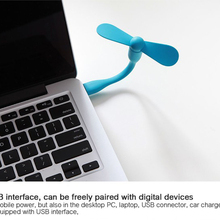 SIANCS Mini Flexible Bendable USB Fan and USB LED Light Lamp USB Gadgets hand fan night light For Power Bank PC for Laptop