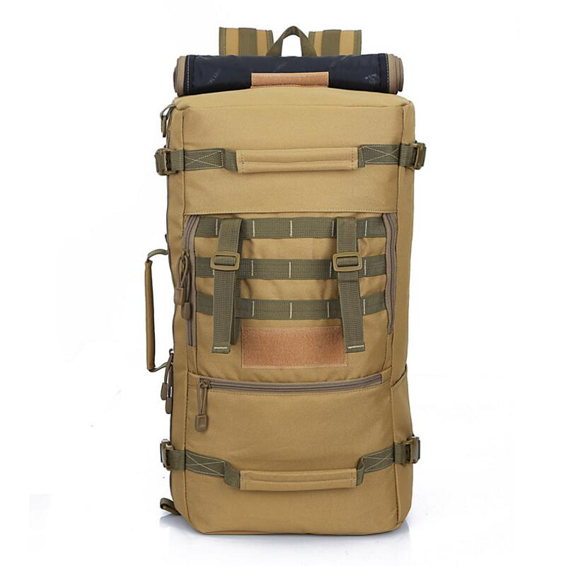 50L Tactical Military Backpack Camouflage Rucksack Sports Bag Outdoor Camping Hiking Hunting Tactical Army Bags Travel Backpack