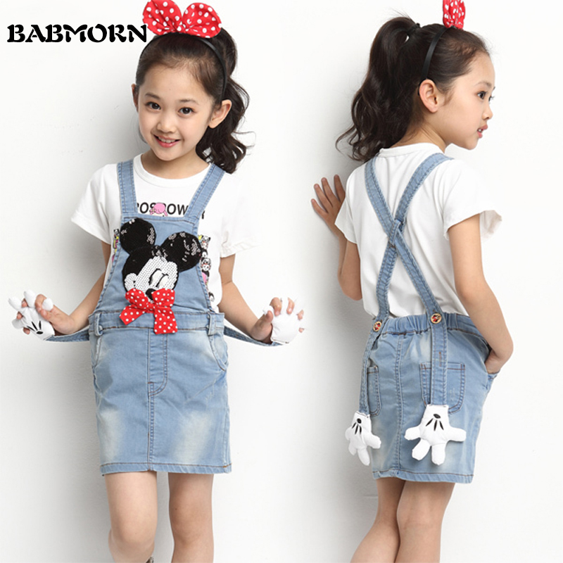 girls jeans skirt girl denim skirt cute mouse bow girls