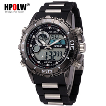 Top Brand Luxury New Analog Digital Quartz Watch Relogio Masculino Mens LED Watches Men Military Waterproof Wristwatch