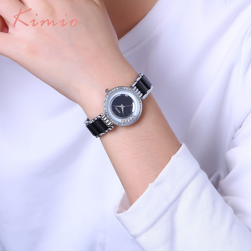 KIMIO Women Watch Fashion Crystal Diamond Rolling Rhinestone - Կանացի ժամացույցներ - Լուսանկար 6
