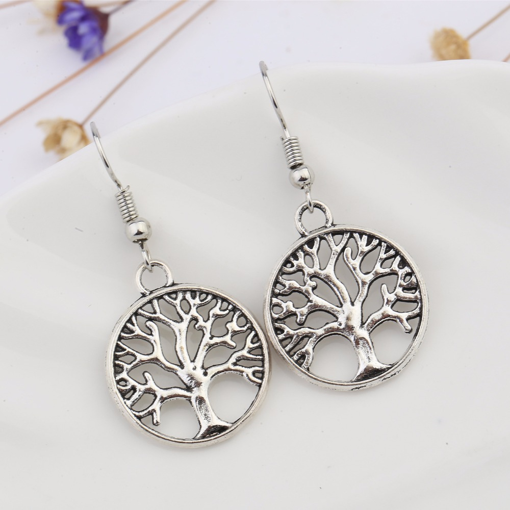 Creative Earrings: Classic Punk Style Hollow Trees Earring Creative Earrings