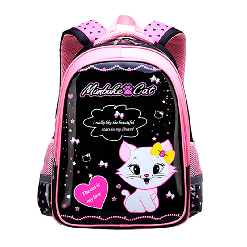 b01fdb7a654c Children s 1-6 Grade Backpack 7-12 Age School Bag Primary Schoolbag Student  Girl Korean Style Lovely Princess Backpacks WBS464