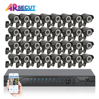 32CH 1080N 720P 1800TVL HD Outdoor Manually Varifocal 2 8mm CCTV Camera Kit Security System Home