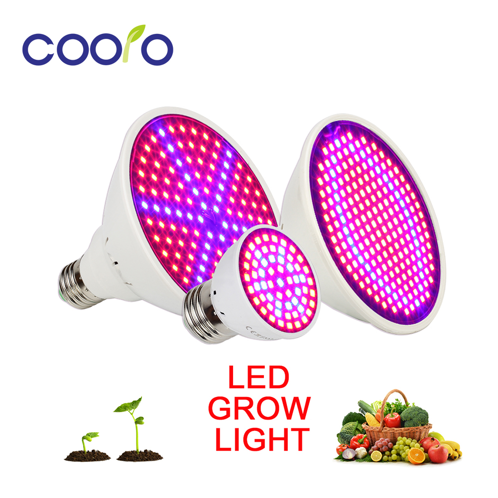 E27 60 126 200 LED Grow Light Plants Lamp For Flower Hydroponics System Indoor Garden Greenhouse AC 85V-265V Growing Light