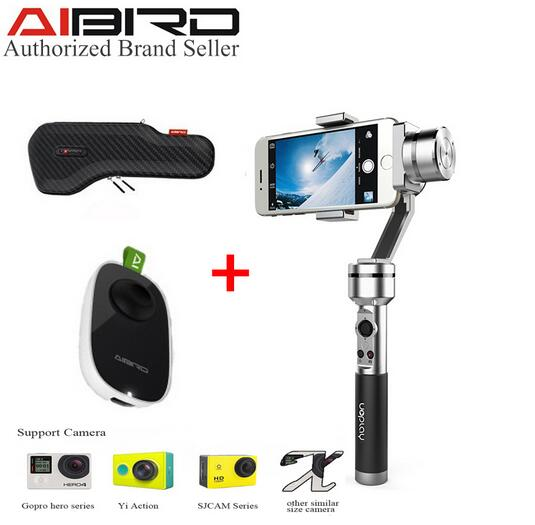 AIbird Uoplay 3-Axis Handheld High-Gloss Steady Gimbal Stabilizer for Smartphone for GoPro & Action Camera PK Zhiyun Smooth C