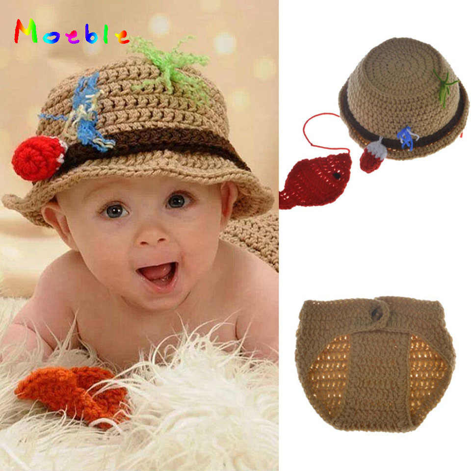 6be0d89251ddc Detail Feedback Questions about Newborn Baby Crochet Fisherman Set ...