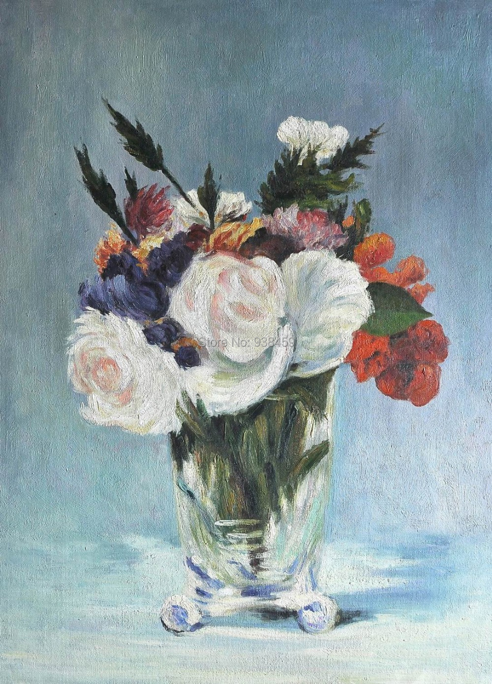 Flowers In A Crystal Vase Of Manet 100 Hand Painted Canvas
