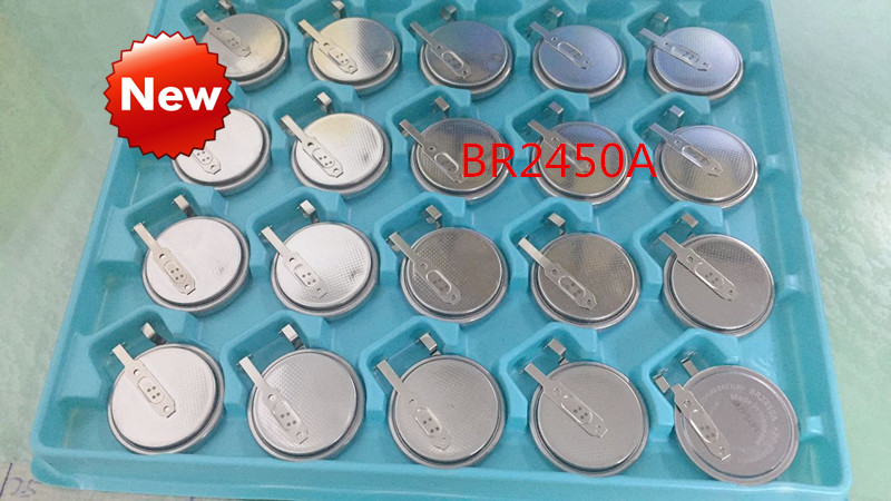 NEW Original  BR2450A BR2450 3V Button Lithium Battery BR2450A/GAN High Temperature Resistant Battery Batterise With Leg