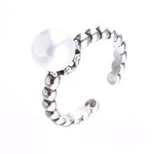 цены на High quality fashion imitation pearl female retro style thai silver 925 sterling silver ladies`finger rings jewelry women ring  в интернет-магазинах