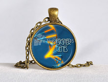1PC DNA blue pendant charms Globe round dome Yellow Orange Geek necklaces vintage Bronze pendants Science Jewelry Gift CN572