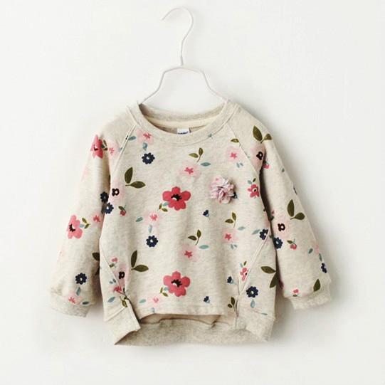 2018 Herbst Neue Kinder Verschleiß Koreanische Version, Mädchen Pullover, Hemd Grundiert Blume Kragen Pullover. Spezieller Sommer Sale