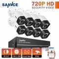 Sannce 8ch cctv sistema 1080 p hdmi dvr kit 8 pcs 720 p tvi cctv ao ar livre sistema de câmera de segurança de vídeo kits de vigilância