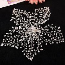 Main feuille de mariage cheveux accessoires de mariée bijoux de cheveux strass cheveux peigne cristal inséré accessoires de mariage