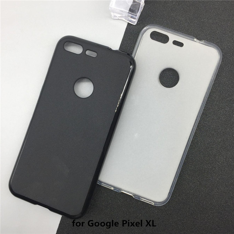 Soft Silicone Phone Cases For Google Pixel XL 5.5 Inch Original TPU Back Cover Pudding Case Fundas Black Shell