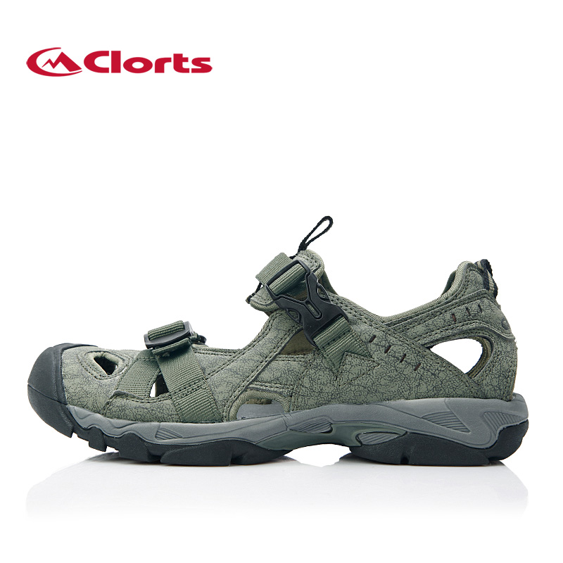 ФОТО 2017 Clorts Men Sandals SD-206 Quick-drying Outdoor Aqua Sandals Breathable Hiking Sandals Water Shoes for Men
