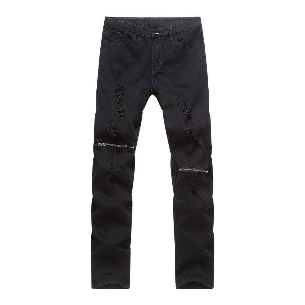 Popular Black Zipper Jeans-Buy Cheap Black Zipper Jeans lots from ...
