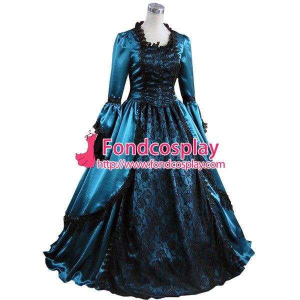 Gothic Lolita Punk Medieval Gown Ball Long Evening Dress Jacket Tailor made[CK1394]