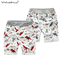 Loose Boys Shorts Summer Children Beach Wear Dinosaur Pattern Boys Bottom Pants 2~7 Ages Kids Boys Character Sports Shorts CI031