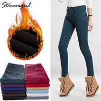 Warm Pants Women's Thick Winter Pants Women Plus Size Warm Fleece Winter Women Pants Female Velvet Ladies Office Pant Autumn