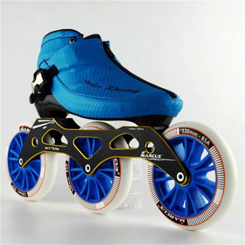 Carbon Fiber Fiberglass Speed Inline Skates 3 120 Wheel Kid s Adult Competition Street Racing Sport