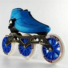 Углеродного волокна и стекловолокна Скорость Роликовых Коньков 3*120 Колеса детский взрослого конкурса уличные гонки Спортивная обувь Обучение Patines F030