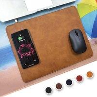 휴대 전화 제나라 무선 충전기 충전 마우스 패드 매트 아이폰 X 8 8 플러스 삼성 S8 플러스 S7 S6