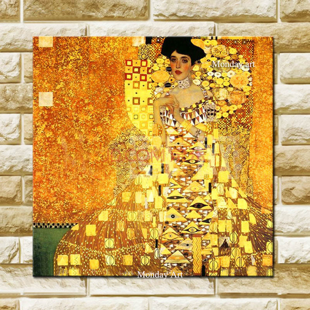 Top Oil Painting Big Size Handmade High Quality Reproduction Famous Gustav Klimt Oil Painting On Canvas Klimt Canvas PaintingTop Oil Painting Big Size Handmade High Quality Reproduction Famous Gustav Klimt Oil Painting On Canvas Klimt Canvas Painting