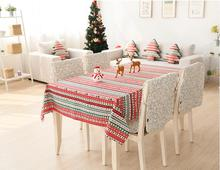 Motif de noël Coton Lin Nappe Américain et L'europe Style Nappe Antipoussière Table Couvre Pastorale Style Textile de Maison