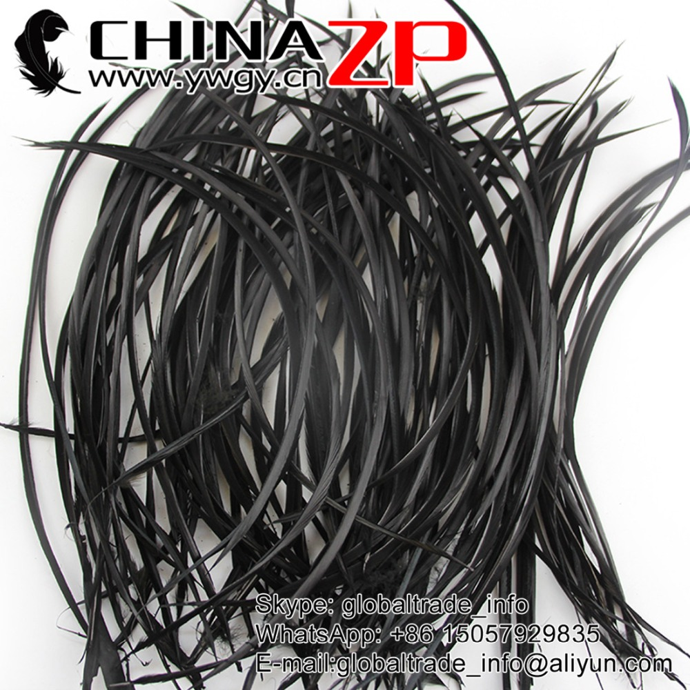 Gold Retail from CHINAZP Factory 100pieces/lot 8-10inch Best Quality Dyed Black Goose Boits Feathers Headdress Carnival