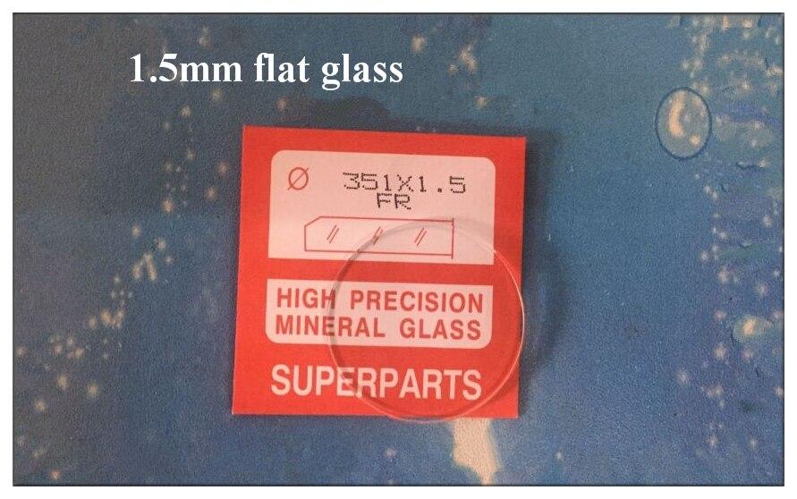 Qualidade Premium! Relógio de Cristal Mineral Cristal De Vidro 1.5 milímetros Plana Rodada Padrão Grosso Variedade de Tamanhos Diferentes