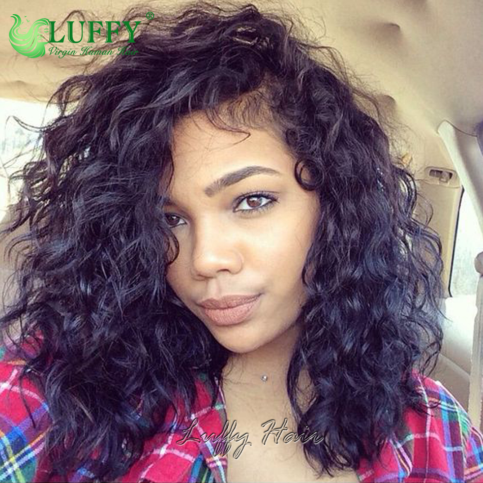 natural bob short curly lace front wigs hairstyles 13x6 deep