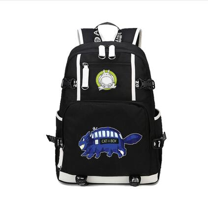 High Q Anime totoro Backpack Cosplay cartoon unisex Canvas Bag Schoolbag Travel BagsHigh Q Anime totoro Backpack Cosplay cartoon unisex Canvas Bag Schoolbag Travel Bags