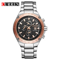 2013 New Curren Brand Original Top Quality Quartz Fashion Men Full Steel Military Watch Business Casual