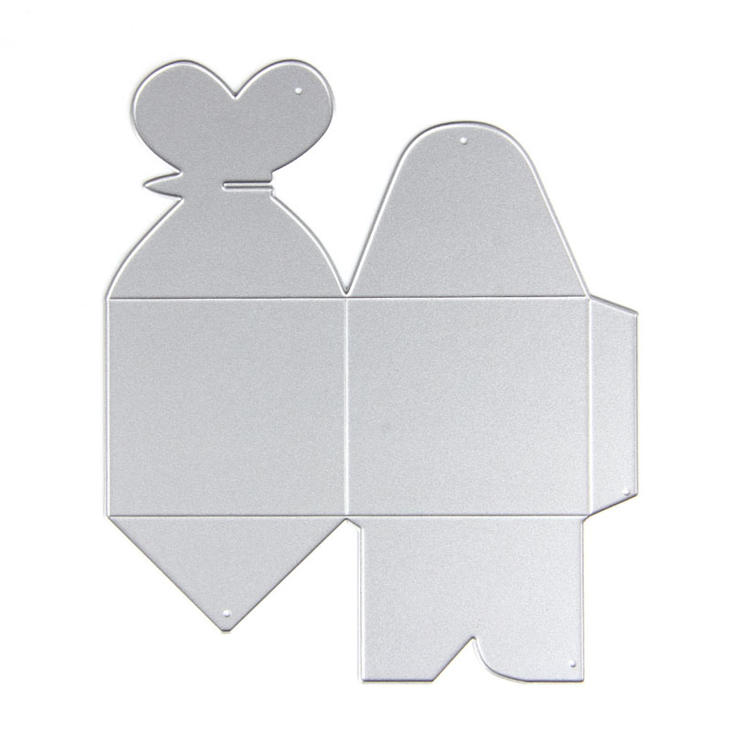 S home New Metal Heart Candy Box Holder Cutting Dies DIY Gift Making Stencil Crafts MAR9 in Figurines Miniatures from Home Garden