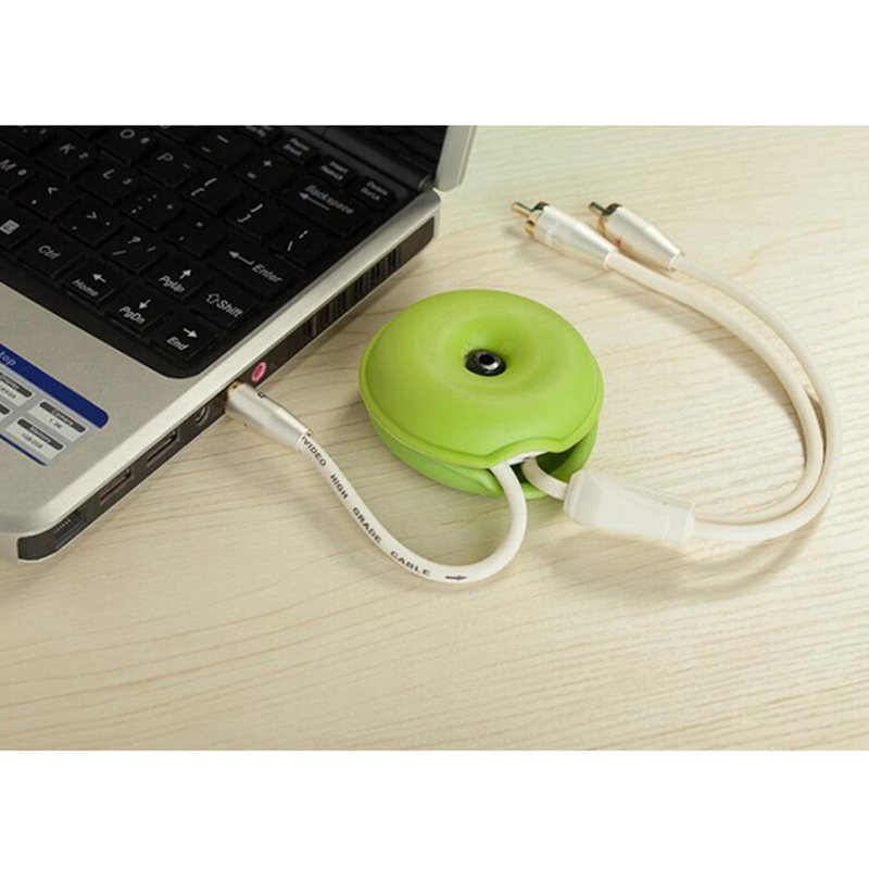 Phone Cable Cord Wire Organizer Holder Winder Smart Wrap For Headphone Earphone