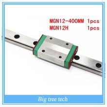 3 шт. коссель мини для 12 мм руководство линейный MGN12 длинные 400 мм рельса + MGN12H длинные линейные перевозки для 3D принтер часть