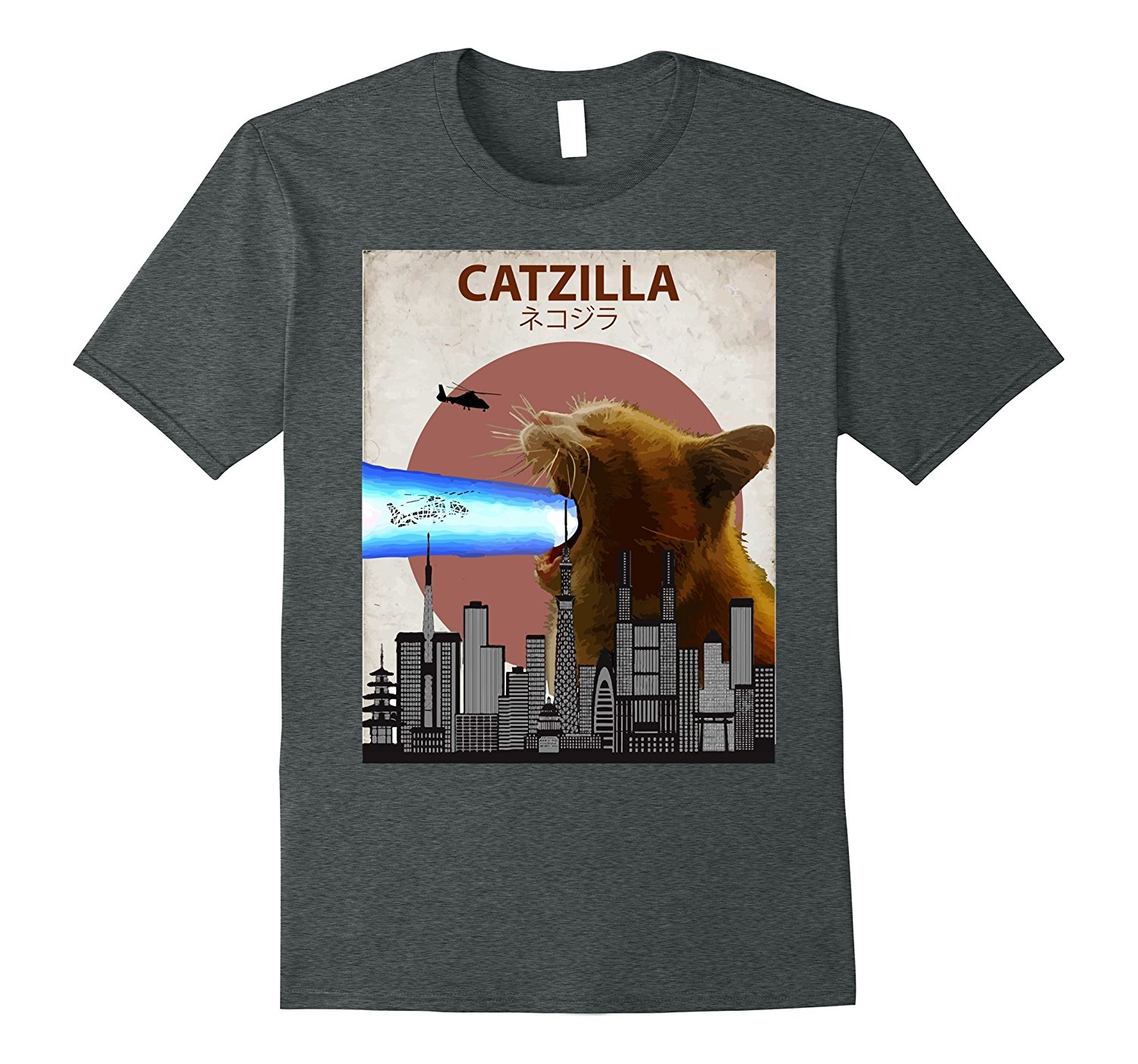 0abe42756 2018 Hot sale Fashion 100% cotton Catzilla Funny Cat T Shirt | Cute  Japanese Cat Lovers Gift Tee shirt-in T-Shirts from Men's Clothing on  Aliexpress.com ...