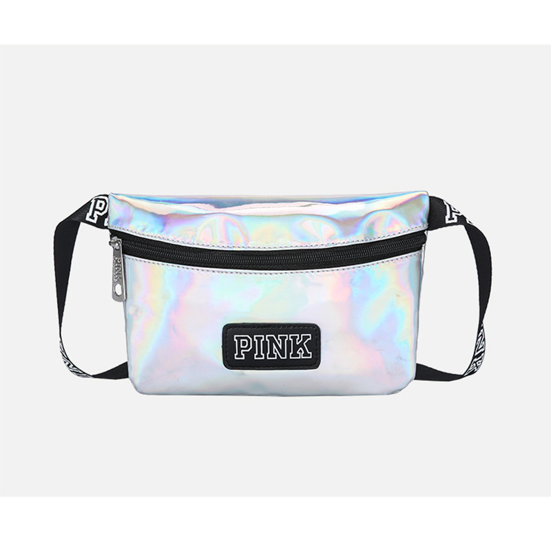 NEW Fanny Pack Pink Girl Bag Waist Bag Women Travel Handbags Beach Shoulder Bag Secret Bag Laser Heuptas Holographic Pouch Belt