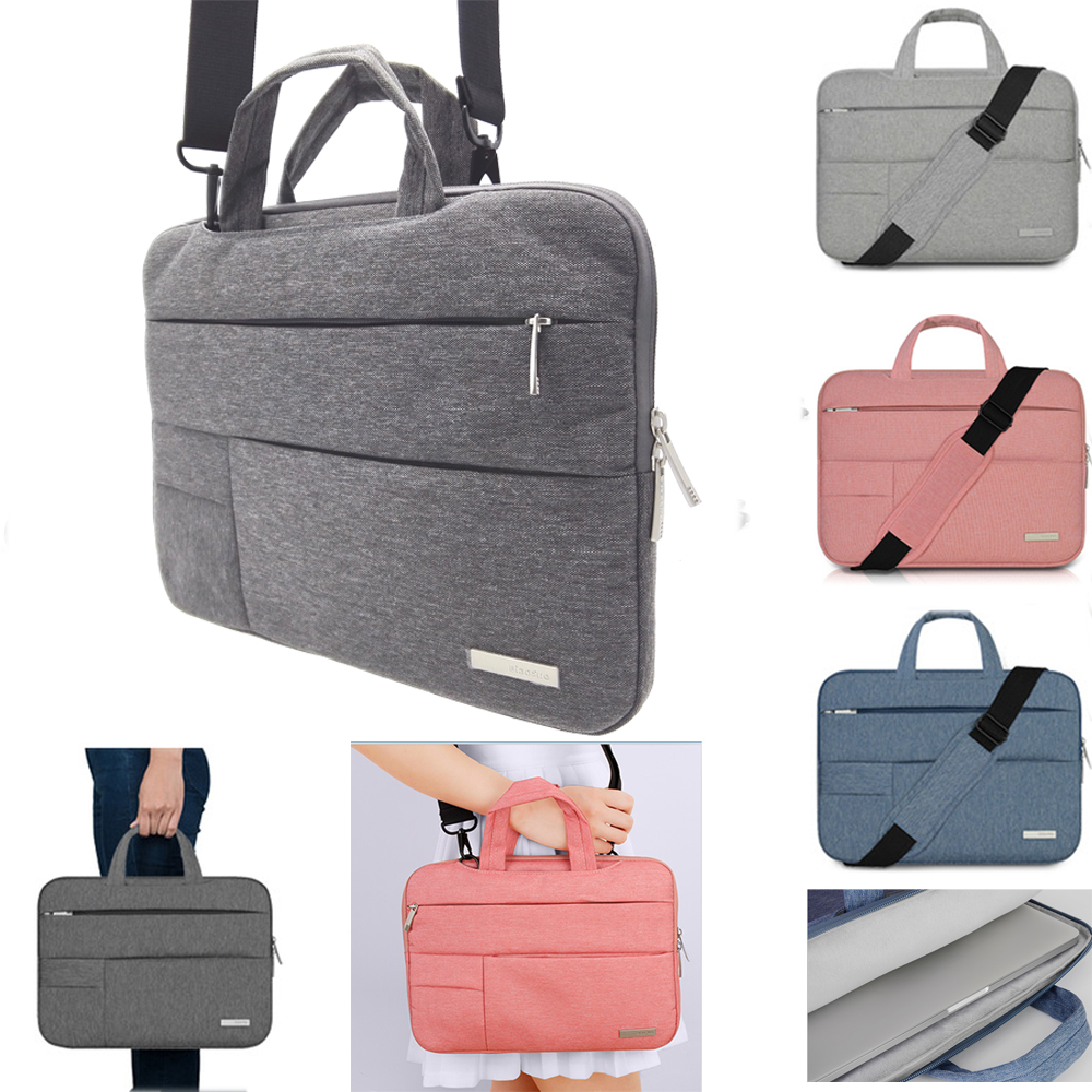 Top Nylon Laptop Sleeve Shoulder Bag Case For Xiaomi Asus Dell HP Acer Lenovo Macbook Air Pro 11 12 13 14 15.4 15.6 Surface pro new waterproof usb charge computer backpacks laptop bag for macbook air pro retian 11 12 13 15 xiaomi hp asus backpacks sleeve