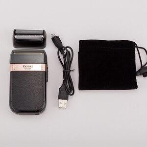 Image 5 - 100 240V kemei 3D חשמלי מכונת גילוח גברים חשמלי razor טיפוח פנים גילוח מכונת נטענת צף זקן מכונת גילוח