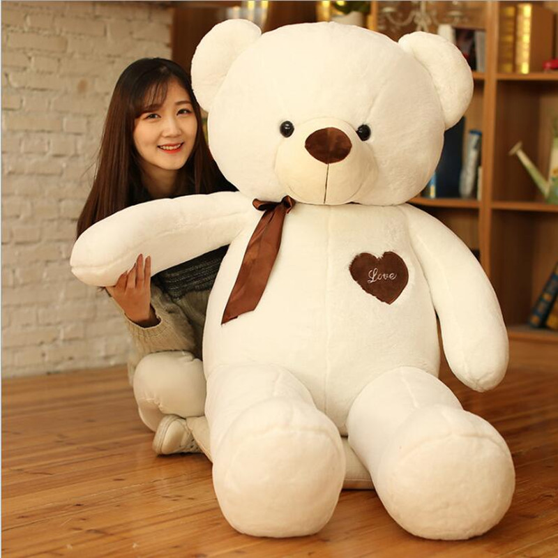 Stuffed Plush Toy Ribbon Real Life Teddy Bear Doll Hug Bear Doll Toys for Girls Girls Birthday Gift Valentine 39 s Day Online Shop in Stuffed amp Plush Animals from Toys amp Hobbies