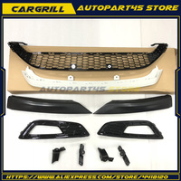 For Ford Focus 2015 2016 Front Lower Grill Modify Parts + Pair Fog Lamp Frame