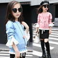knitting little teenage girls clothes suits autumn 2016 children clothing set for girl knit sweater tops black skirts set 2016