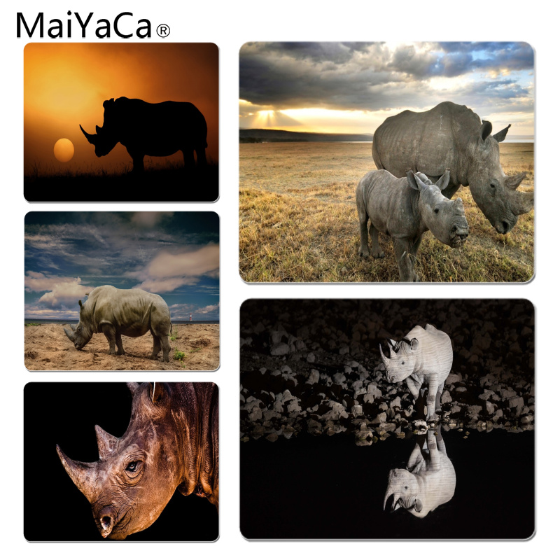 MaiYaCa Rhinoceros Large Mouse pad PC Computer mat Size for 18x22x0.2cm Gaming Mousepads