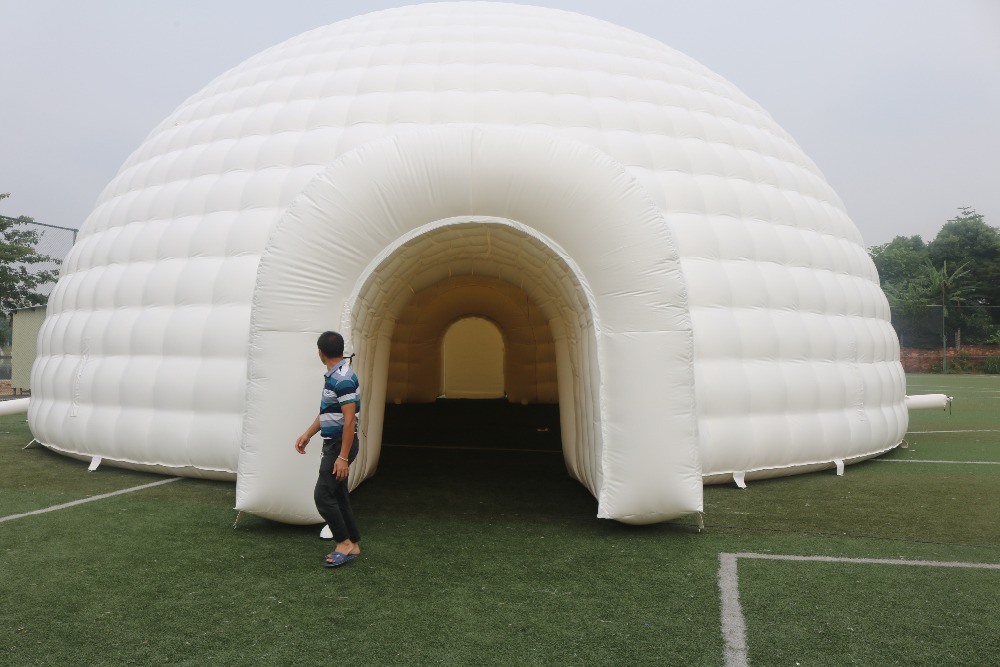 Diameter 16M Inflatable waterproof igloo Dome Tent shipping by sea will be cheaper -in Tents from Sports u0026 Entertainment on Aliexpress.com | Alibaba Group & Diameter 16M Inflatable waterproof igloo Dome Tent shipping by sea ...