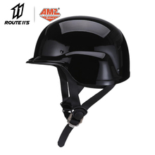 AMZ Retro Motorcycle Helmet Casco Moto Helmet Half Face German Style Vintage Casque Scooter Helmet Motorcycle For 4 Season цены онлайн